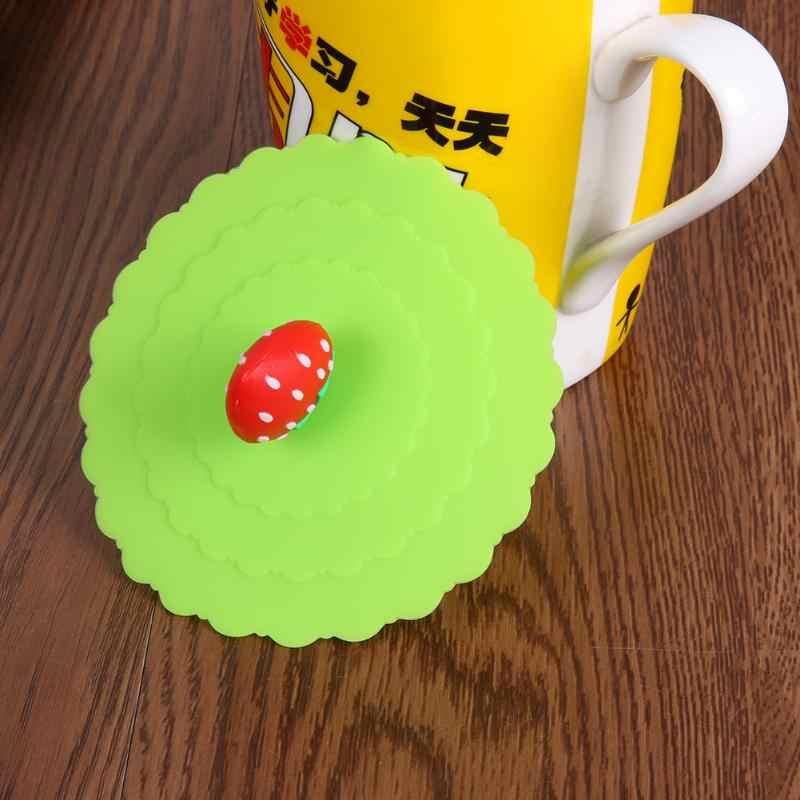 Herbruikbare Cartoon Fruit Stofdicht Siliconen Cups Deksel Magic Cover Lekvrij Luchtdicht Cover voor Thee Koffie bardak Cups