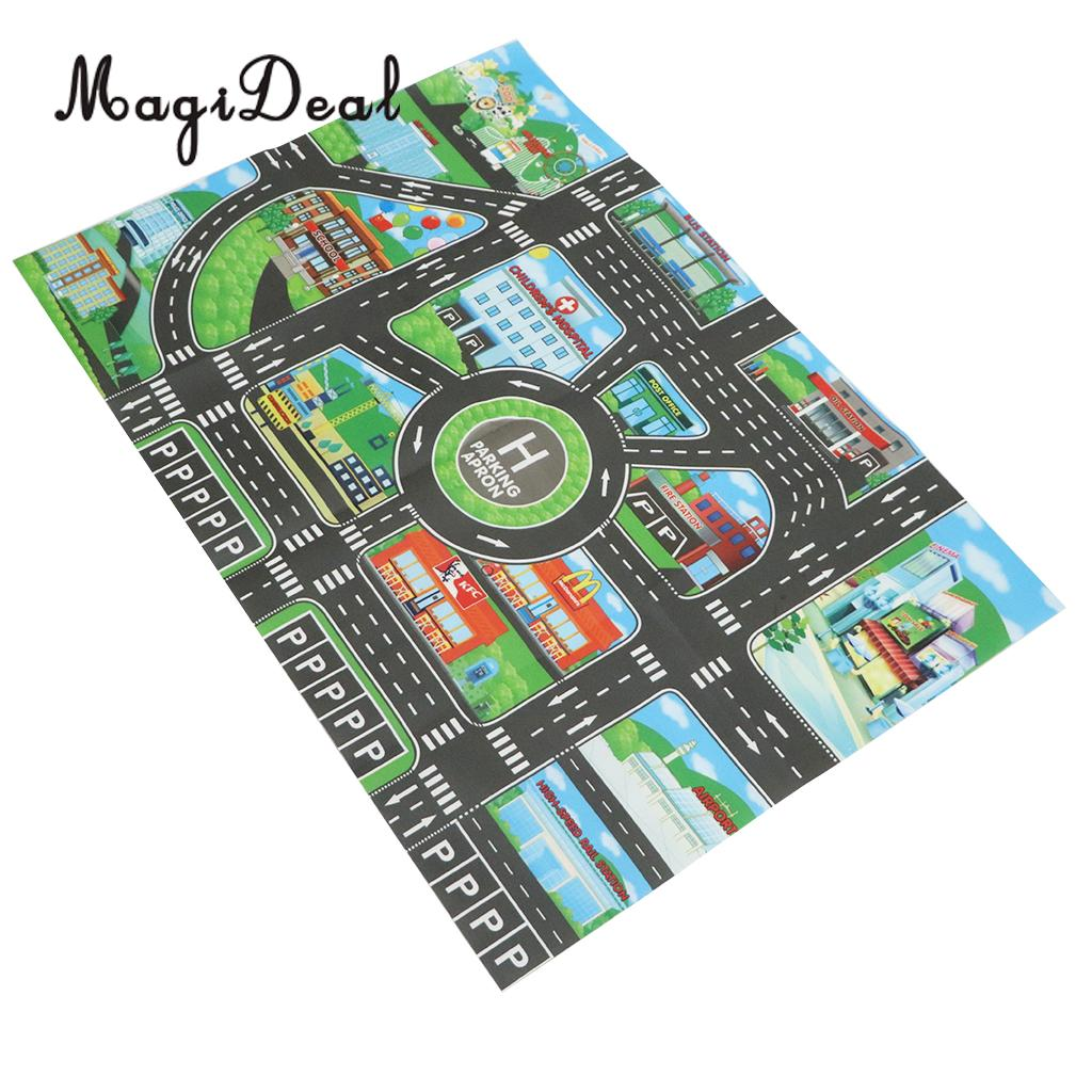 City Traffic Road Carpet Playmat Rug For Cars Train Game Toys Baby Children Educational Play Mat City Traffic Road Carpet Playmat Rug For Cars & Train Game Toys Baby Children Educational Play Mat For Bedroom Play Room Game #B
