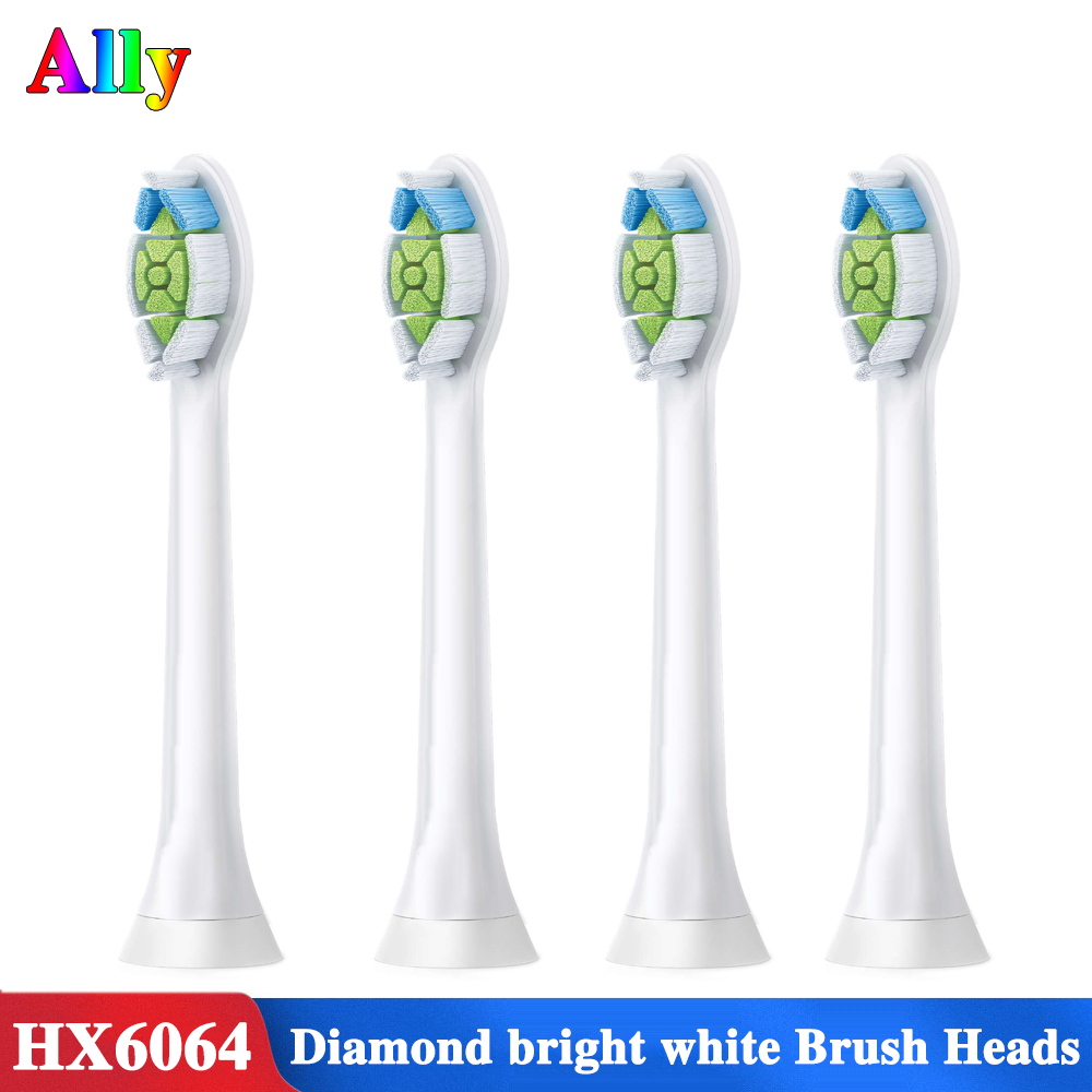 4PCS toothbrush heads for philips sonicare FlexCare Diamond Clean HX6730 HX9352 HX9362 HX6616 HX9954 Electric toothbrush heads image