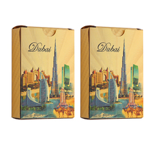Double set plastic playing cards PVC Silver Waterproof Creative gift poker cards Collection plastic game Cards -Dubai Style