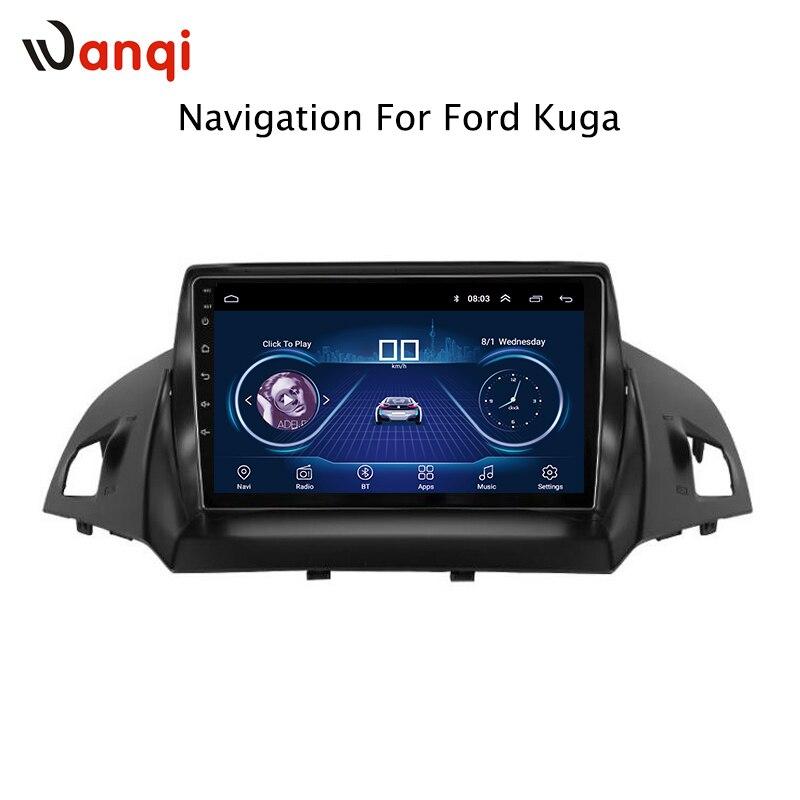 9 pulgadas Android 8,1 pantalla táctil completa sistema multimedia del coche para Ford kuga escape 2013-2017 coche gps radio navegación