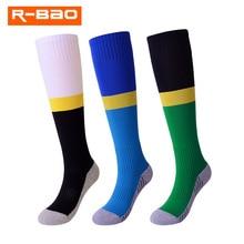 R-BAO Hot Sale 1 Pair Sports Socks Knee Legging Stockings Soccer Baseball Football Socks Over Knee Ankle Boy Girls Kids Socks pair of hot sale letter pattern football stockings athletic socks for men