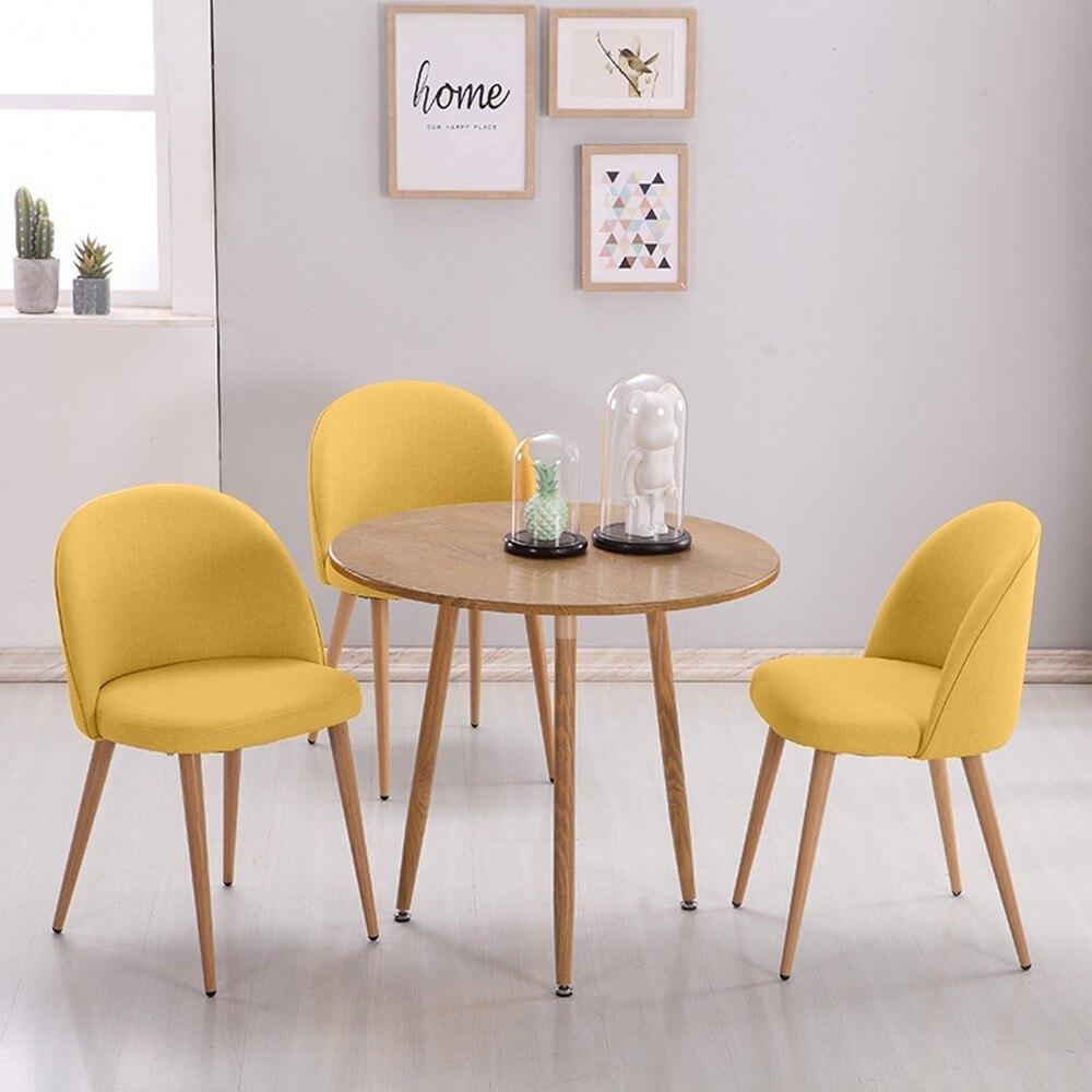 2 ensemble lisse tissu salle à manger chaises rétro en bois massif salon chaise loisirs réunion chaise cuisine salon meubles