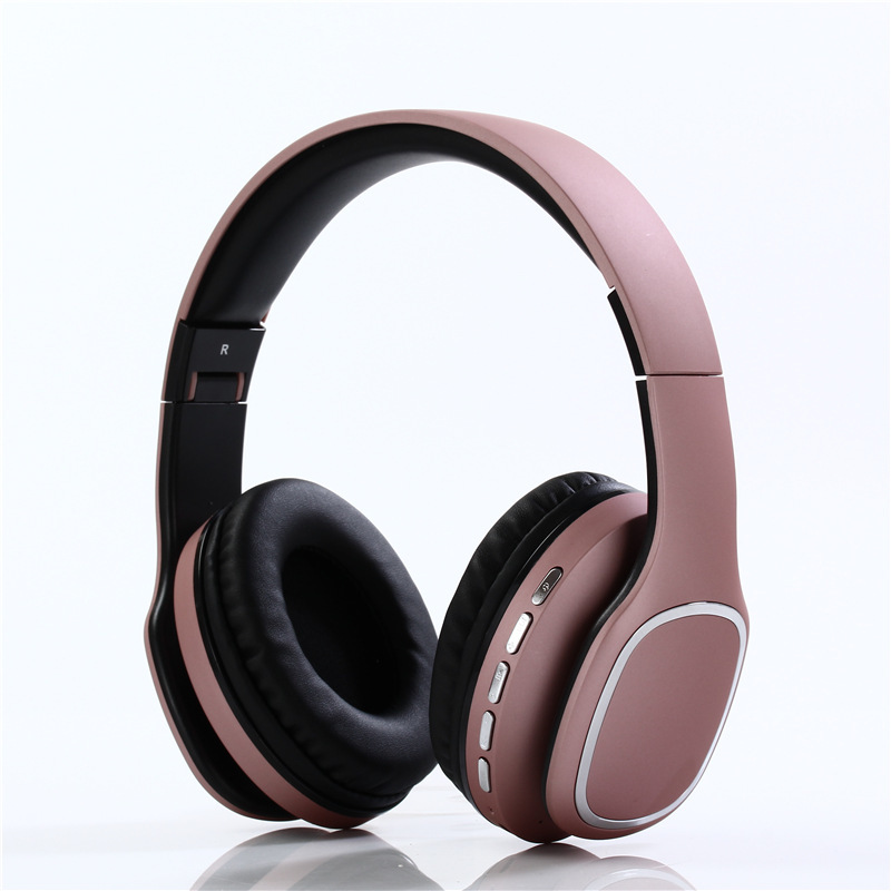 2018 New Pattern Head Wearing Type Bluetooth Headset Wireless Conversation Plug in MP3 Phone Headset Foldable Headset Mode