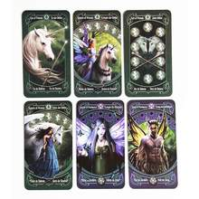 78 PCS Custom Tarot Cards Deck Board Games 4 Languages Tarot Card to Read the Mythical Divination Fairies Card Games(China)