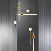 Nordic LED Pendant Lights Lighting Loft Lamps Metal Vertical Lustre Home Indoor Decor Luminaire Hanging