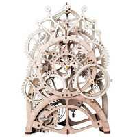 Robotime 3D Puzzle Diy Movement Assembled Wooden Jointed Model For Children Teenage Clockwork Spring Toy Lk501 - Pendulum Cloc