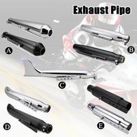 Universal Motorcycle Exhaust Pipe Muffler Exhaust Tip Vintage Rear Pipe Tail Tube For Harley/Suzuki/Yamaha/Honda