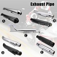 Universal Motorcycle Exhaust Pipe Muffler Exhaust Tip Vintage Rear Pipe Tail Tube For Harley/Suzuki/Yamaha/Honda