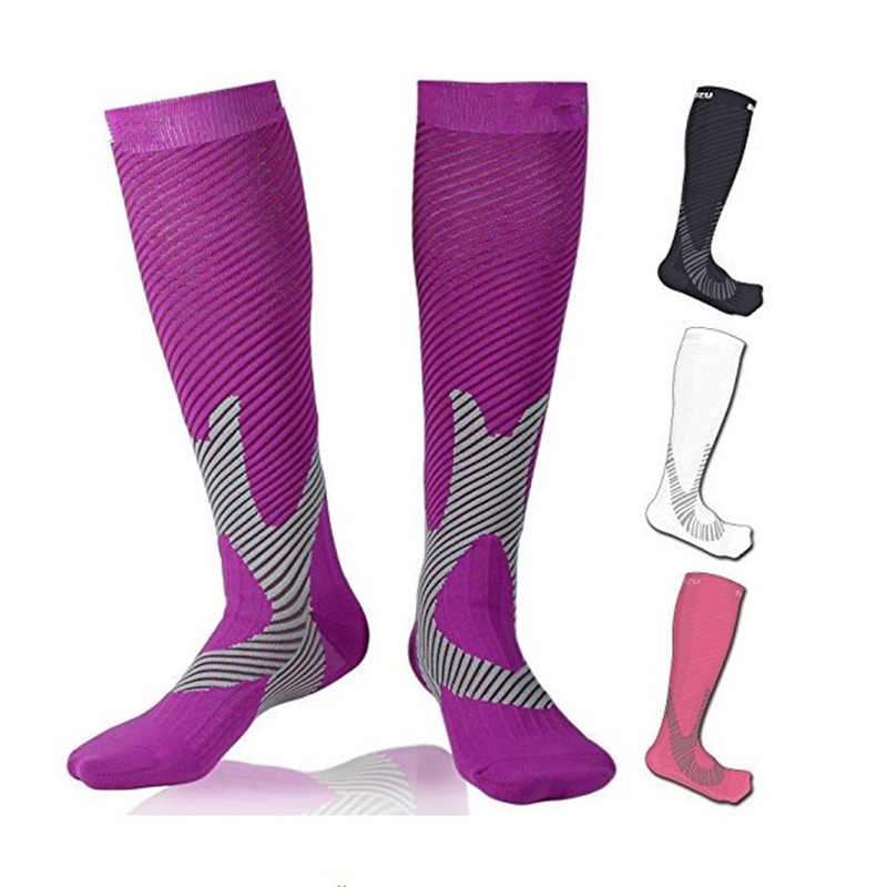 Purple Sports Breathable Lightweight Hilly Womens Pace Socklet Running Socks