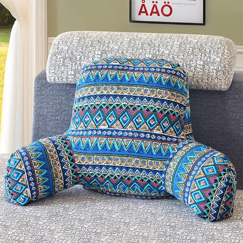 Pillow Back Cushion with Arm Support Bed Reading Rest ...