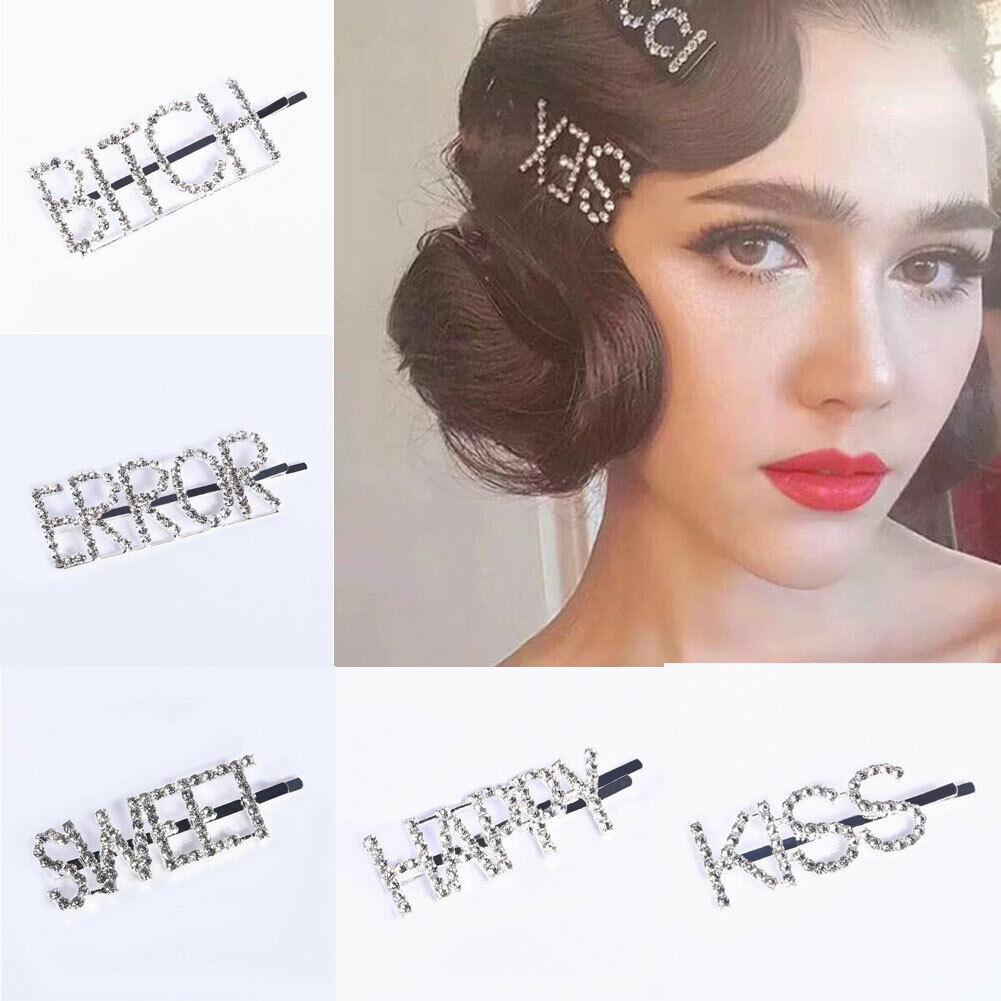 Women/'s Glitter Hair Slide Clip Summer Barrette Slide Grips Hair Clips Hairpins