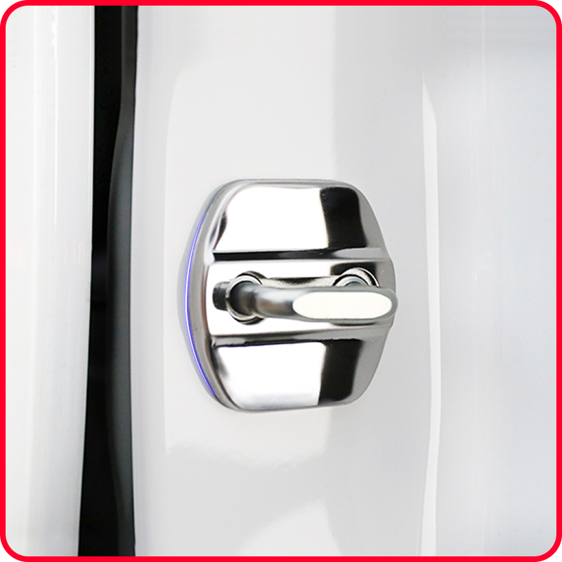 A Little Change 4Pcs  Stainless Steel Car Covers Door Lock Cover Case For Renault Koleos KADJAR For Samsung QM6 Accessories