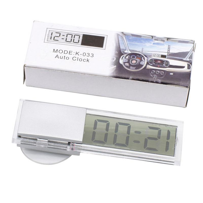 Car Suction Cup Electronic Clock LCD Display Mini Electronic Watch-mounted Window Clock With Suction Cup Car Interior Ornament