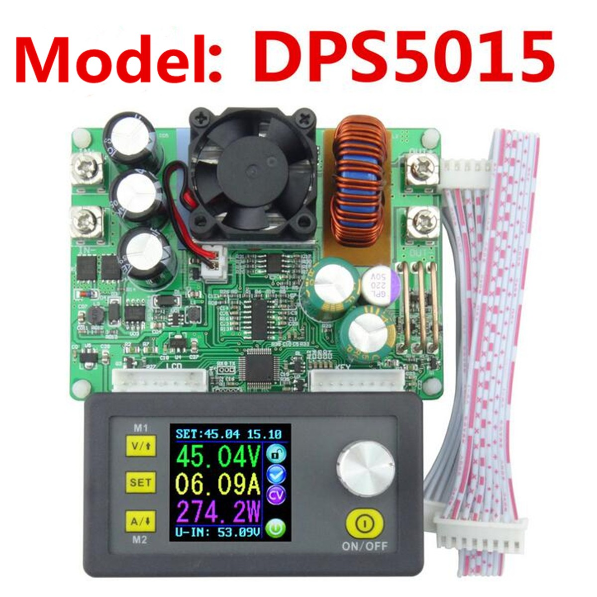 DP30V5A DPS3012 DPS5015 LCD Voltmeter Current Voltage Tester Step-down Programmable Power Supply Module Regulator Converter