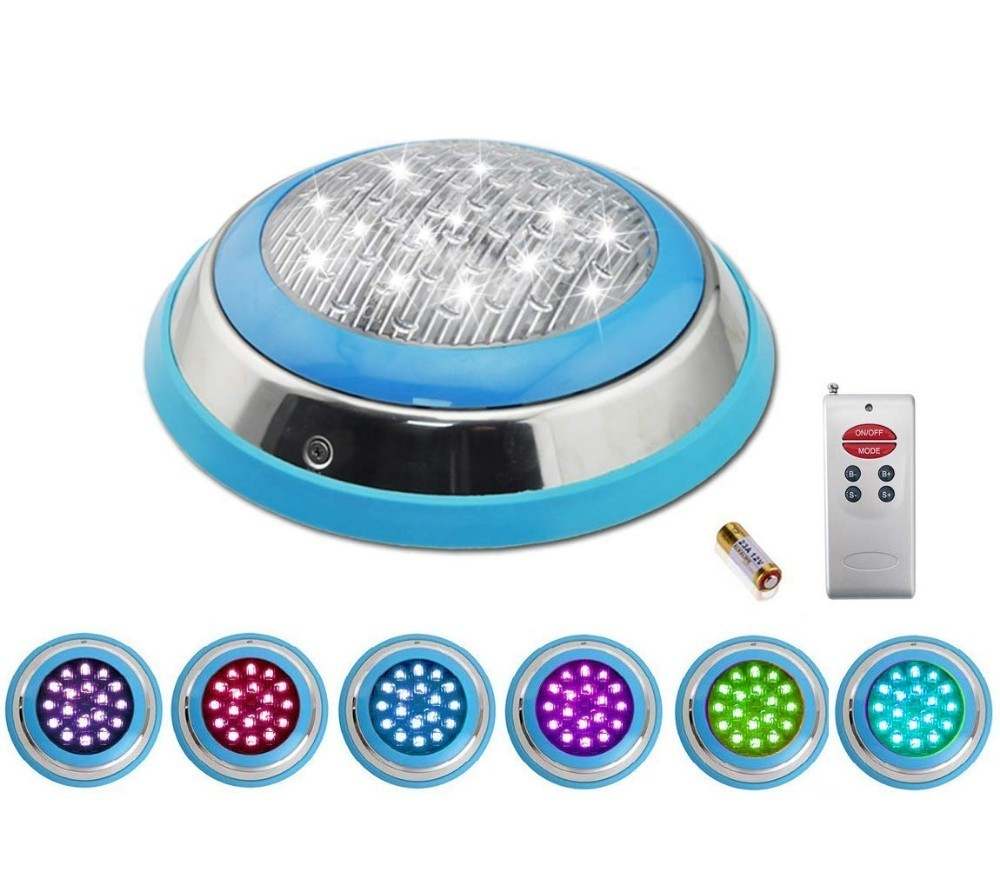 Led Lamps Lights & Lighting 54w/36w/24w/18w Stainless+pc Filled Led Swimming Pool Lights Rgb Multi-color 12v