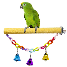 Parrot Squeak Scrub Molar Stick Standing Toy Bird Perch Creative Funny Frosted Stand Cage For Parrots