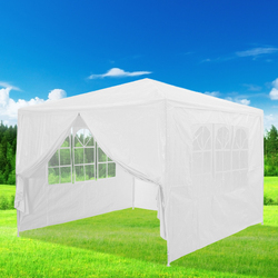 Panana 3 x 4m Waterproof Garden Tent 4 Wall Gazebo Folding Canopy Outdoor Marquee Shade Powder Coated Steel Tubes Double Zip