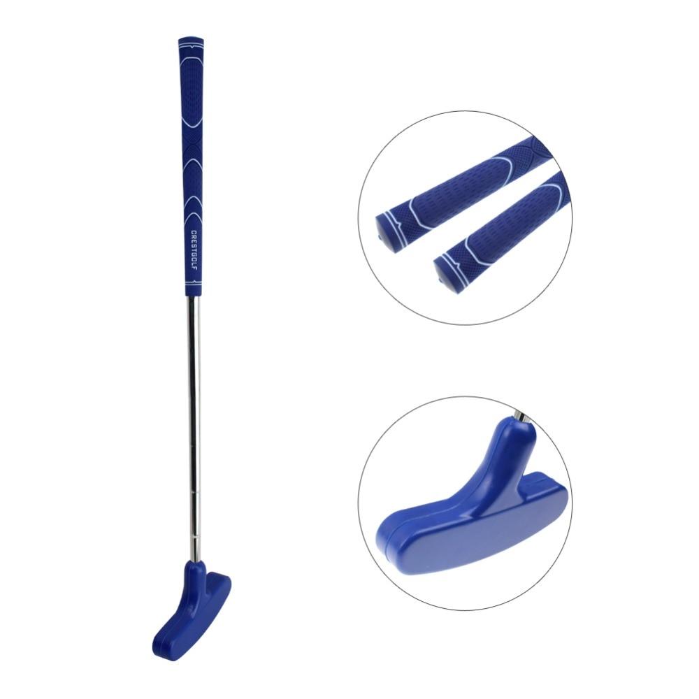 Crestgolf Both Men And Women Mini Golf Putters Steel For Golf Practice Clubs With Rubber Putter Head & Steel Shaft Clubs De Golf