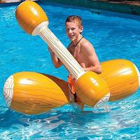 Water Entertainment Competitive Game Toy Inflatable Float Raft Park, Pool, Lake, etc Swim Stick Ring Wood Grain