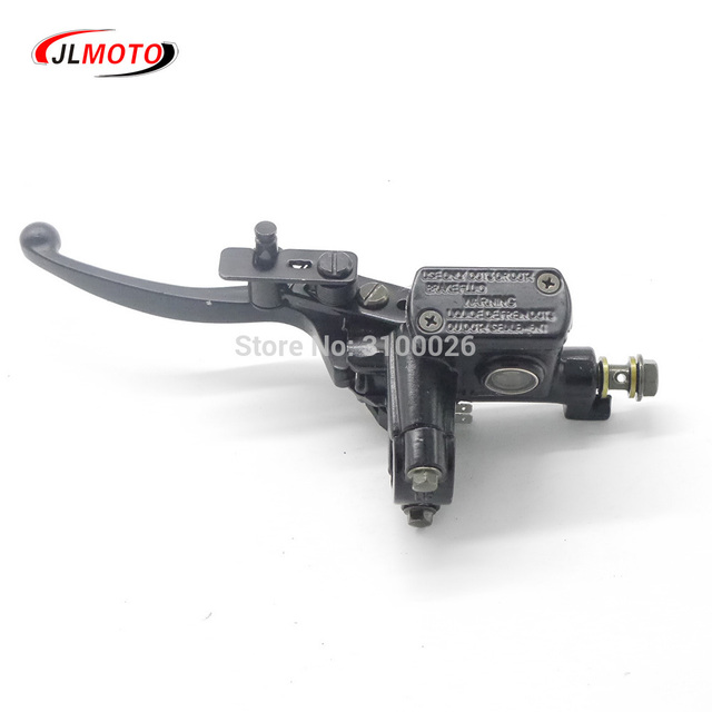 Left Hand Rear Master Cylinder 7/8 Handlebar Hydraulic Brake Lever With Parking Brake & Stop Switch Fit For ATV Quad Bike Parts