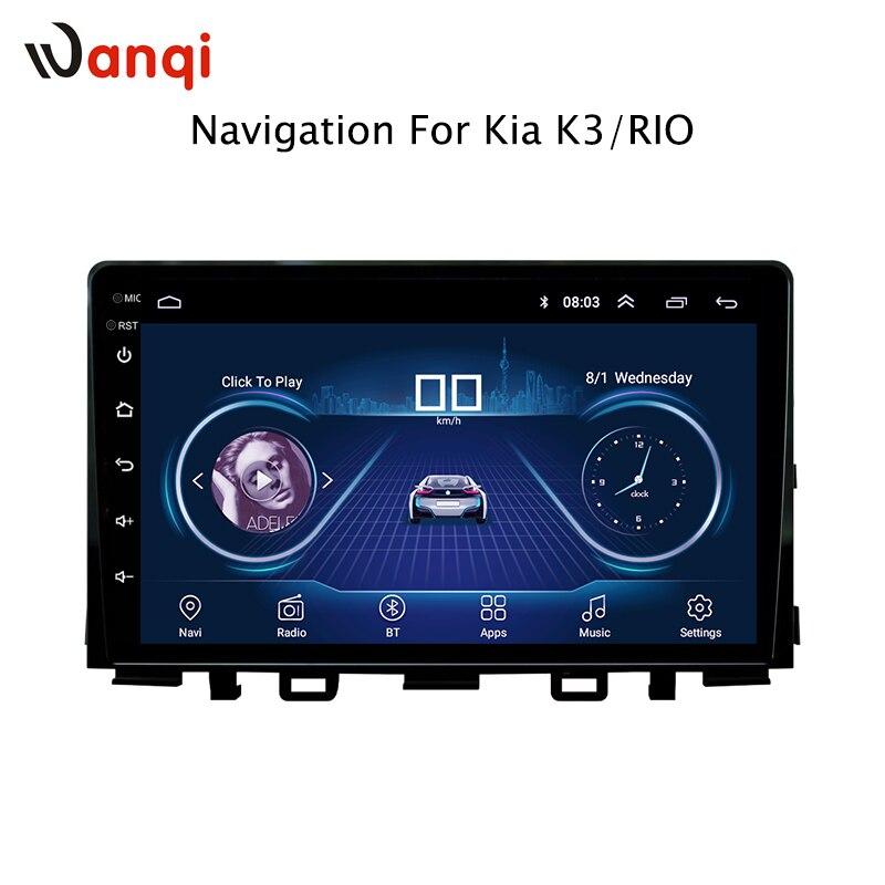 Android 8.1 Voiture Lecteur Audio 9 pouces Pour KIA k3 RIO 2017 Voiture GPS Navigation Avec Écran HD, playstore, Wifi