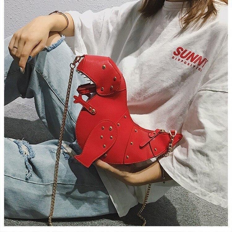 Di Del Messaggero Signore Le roses Spalla Sacchetto Creativo Borsa In Femminile Fumetto Con Donne black Mano Tracolla Pelle Red red Dinosauro Per Sac Delle Borse OqdaUwd