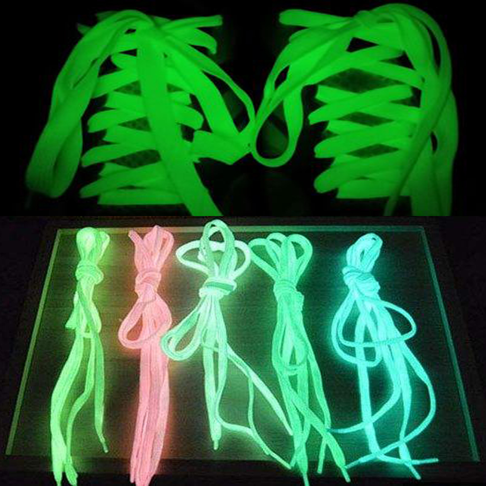 Glow In The Dark Luminous Shoelace Casual Led Shoes Strings Shoes Party Camping Shoelaces For Glowing Shoes Canvas Shoes ~