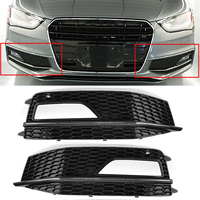 New Car Front Grille Mesh Front Bumper Fog Light Grill Grills Grill Cover For Audi A4 B8 2012 2015 S4 S Line Facelift