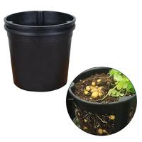 Plastic Plants Nursery Pot Seedlings Flower Plant Container Seed Starting Pots (Black)