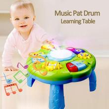 Baby Learning Activity Table Toys Educational Musical Desk Toys With Piano Pat Drum Light Up For Baby Infants