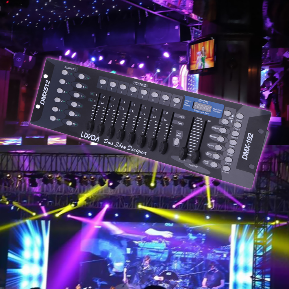 192 Channels DMX512 Controller Console for Stage Light Party DJ Disco Operator Equipment