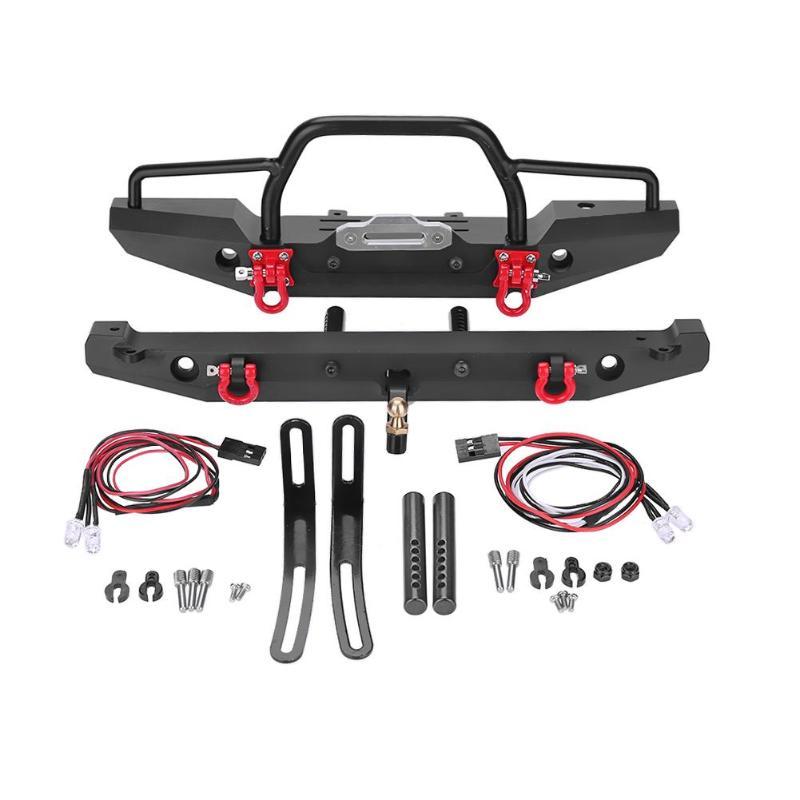 1:10 RC Рок автомобиль металлический передний задний бампер для Traxxas для TRX-4 для SCX10II 90046 RC гусеничные автомобили аксессуары рождественские под...