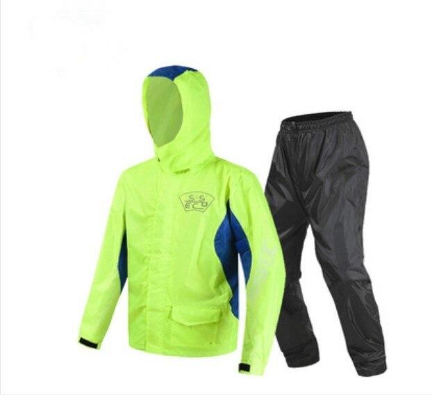 2018 nouveauté Moto équitation imperméable Moto pantalon de pluie costume adulte Split extérieur respirant étanche à la pluie SCJ-605 livraison gratuite