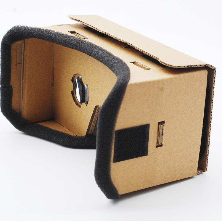 Virtual Reality VR Glasses Ultra Clear 3D VR Cardboard Box Magic Glasses Style For 4-6 inches Smartphone For iPhone Samsung