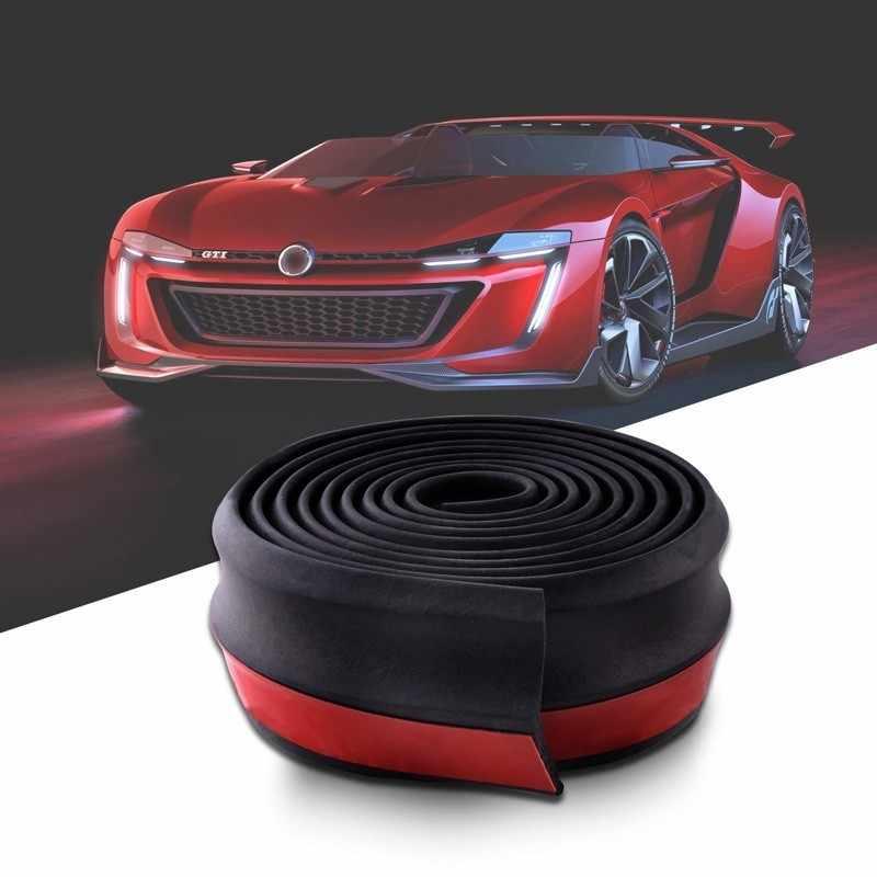 SPEEDWOW Universal Carด้านหน้าด้านหลังกันชนลิปSplitterยางสปอยเลอร์Valanceคางยางรถกันชน 2.5M