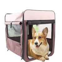 Latest Pet Cage Kennel Multi Function Collapsible Breathable Wear Puppy Cats Dog Bed Car Transport Cage Pets Outdoor Carriers