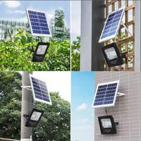 32leds Solar Powered LED Flood Light Remote Controlled IP66 Waterproof Outdoor Garden Yard Wall Light Energy Saving Lamp