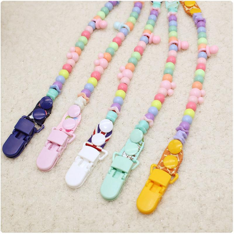 Baby Pacifier Clip Chain Anti-drop Soother Pacifier Clips Leash Strap Nipple Holder For Infant Nipple Bottle Clip Chain Pacifier