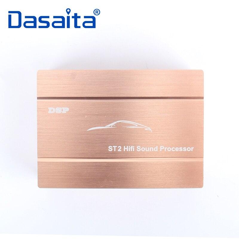 Dasaita Voiture Audio Numérique Signal Sonore Processeur DSP Amplificateur pour Toyota Nissan VW Ford Hyundai ISO câble