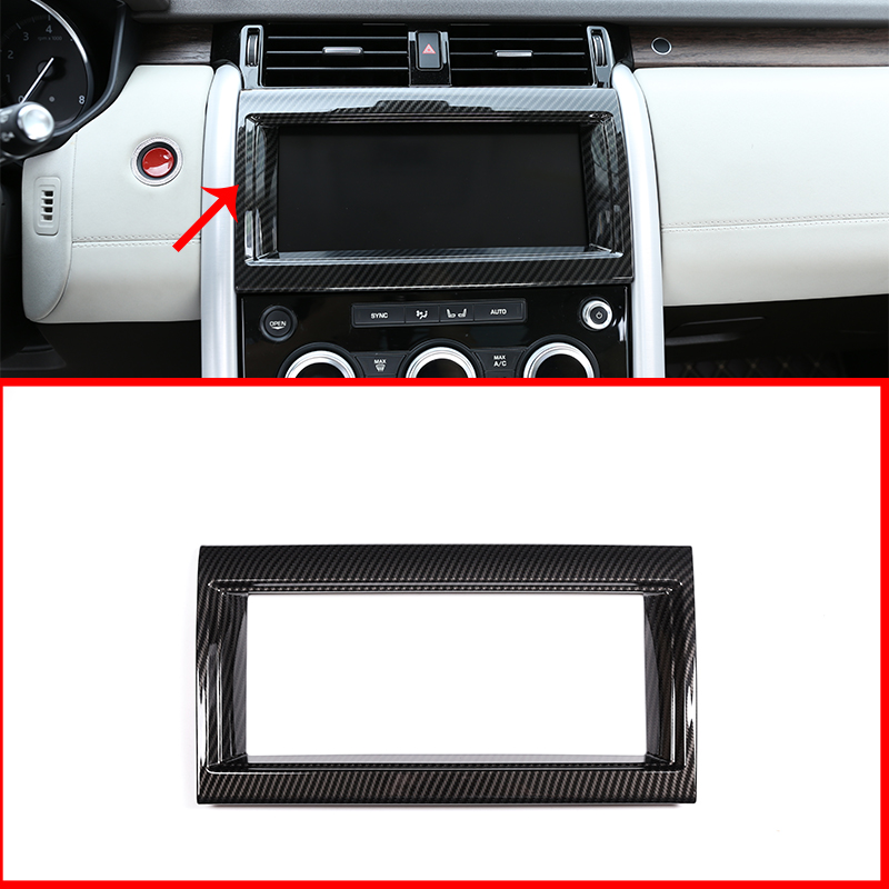 For Land Rover Discovery 5 2017-18 Carbon fiber Gear Shift Box Panel Cover Trim