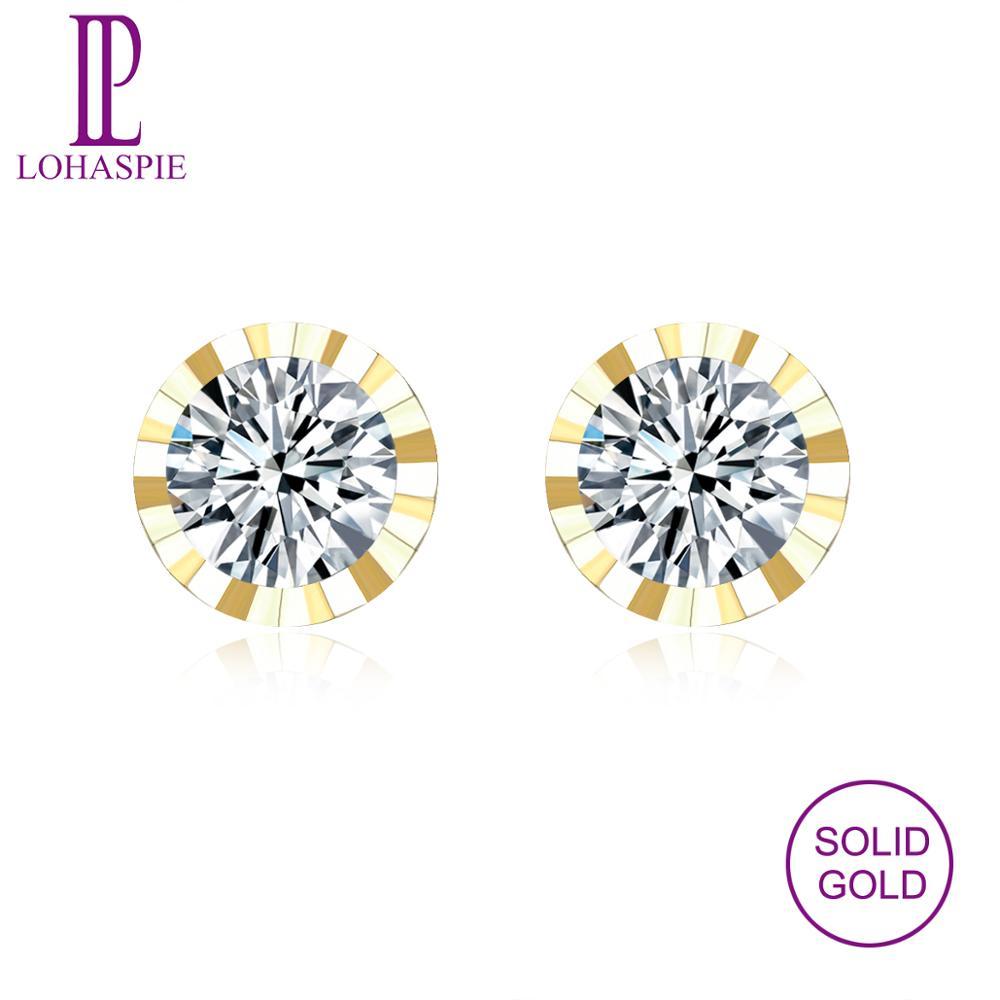 LP boucles d'oreilles à la mode 9 K or jaune simulé diamant mode pierre bijoux fins pour les femmes de mariage style casual filles 2019