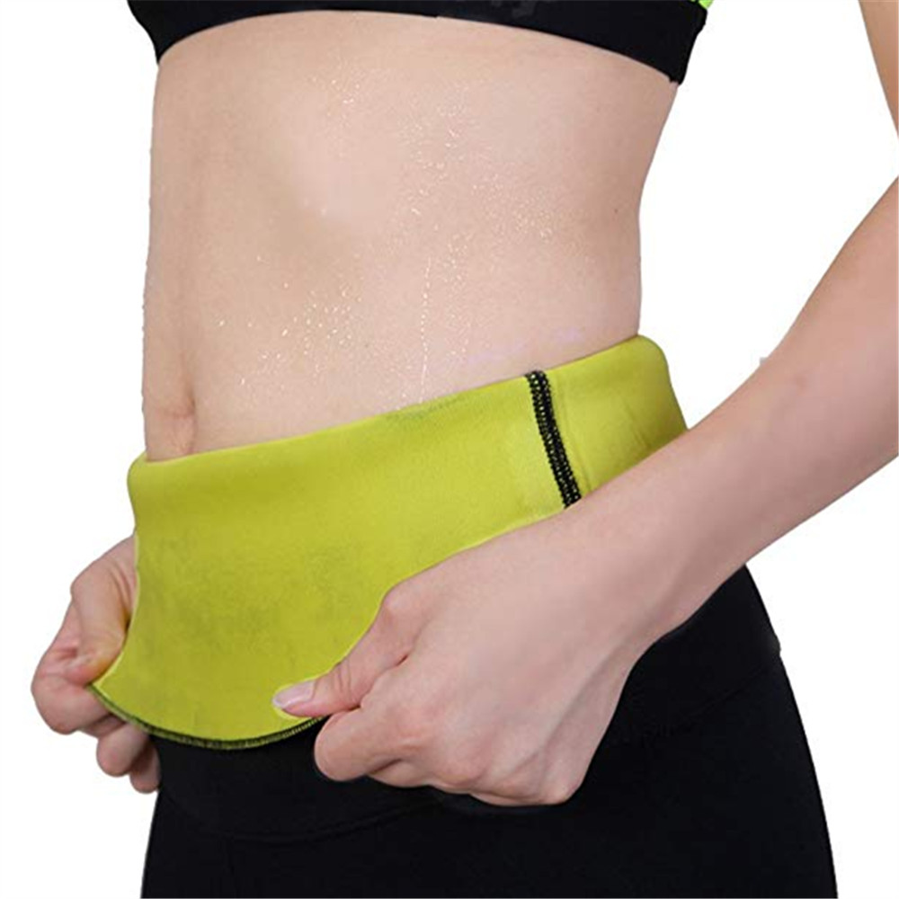 Sauna Sweat Neoprene Waist Trainer Tummy Control Shapewear Black Slimming Product
