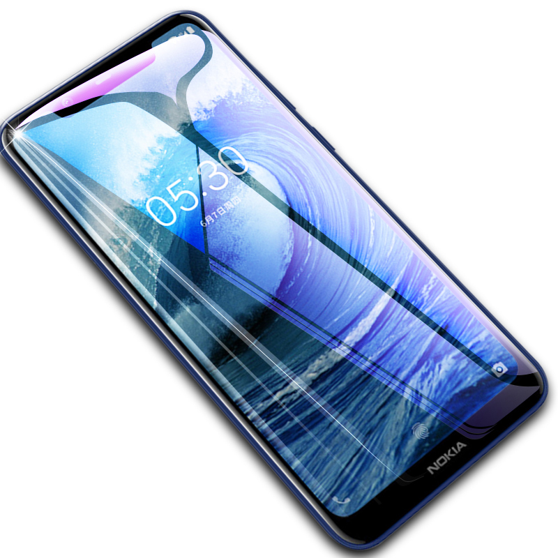 9D Tempered Glass For Nokia 6.1 Plus Screen Protector For Nokia 5 6 7 9 3.1 5.1 Plus 6.1 X5 X6 Protective Glass Nokia9 6.1Plus