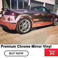 Зеркало хромированная пленка для оклеивания автомобилей Розовое Золото Хром Винил Германии на основе растворителя Низкая начальное схват