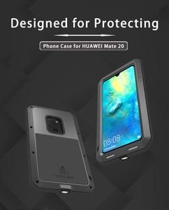 Image 2 - עבור Huawei P30 פרו לייט מקורי Lovemei אלומיניום מתכת + זכוכית גורילה הלם זרוק עמיד למים מקרה עבור HUAWEI Mate 20 פרו/8 9