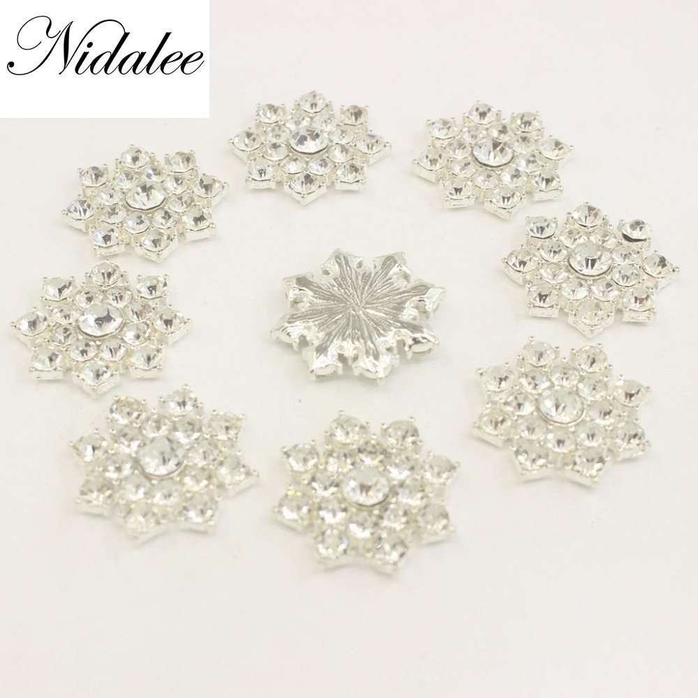 f06a81f7c0 Aliexpress.com : Buy Crystal Diamond Rhinestone Flatback Gem Buttons DIY  Clothing Applique Metal Craft Decoration for Bridal Embellishment Dress  10pc ...