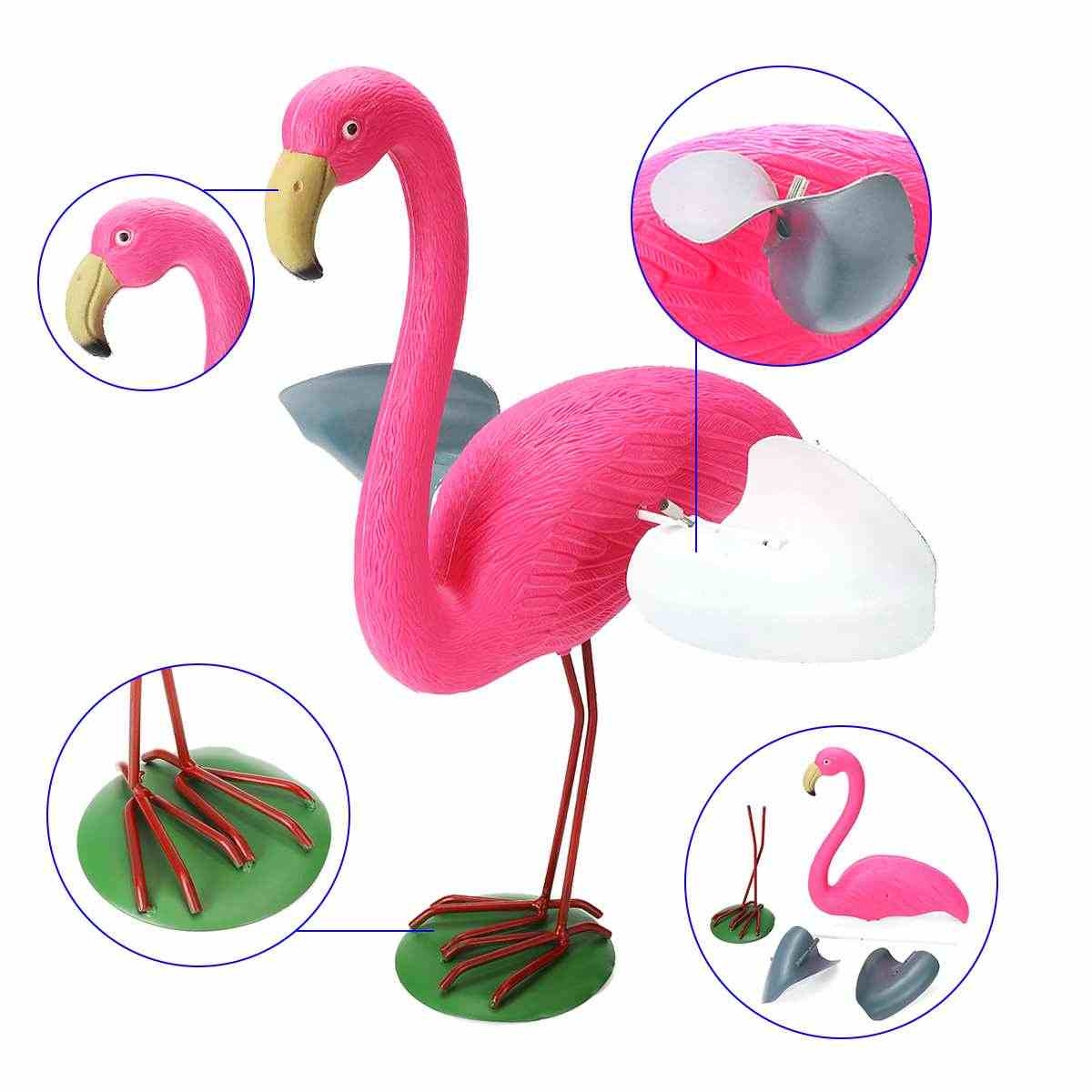 Żywica + Metal na świeżym powietrzu Pink Flamingo z skrzydła Flamingo ogród ozdoba zestaw światła realistyczne dekoracji jak stoczni kolekcje/prezenty