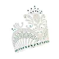 Pageant Crowns Lager Adjustable Miss USA Crown Green Hair Jewelry Party Prom Shows Headdress G tiaras Mo236