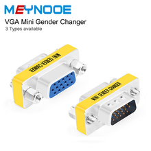 Wholesae D Sub 15 VGA Exterder Cable VGA HD15 Pin Gender Changer Convertor Adapter VGA Connector Male to Male Female VGA Coupler